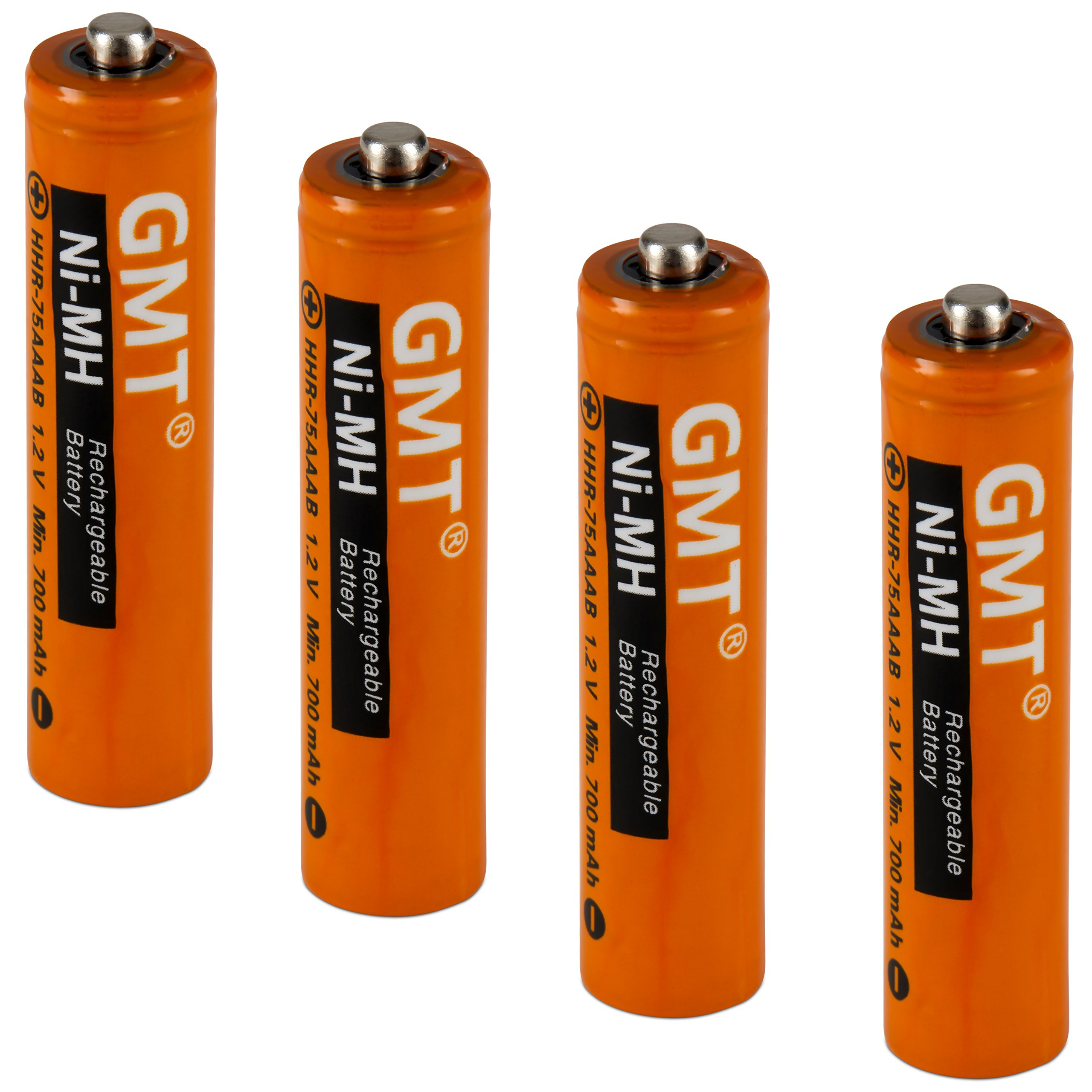 db0629a149b97e GMT Panasonic Cordless Phone Batteries NI-MH Rechargeable AAA 750mah Extra  Power (4 pack