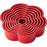 Cake Boss Decorating Tools 8-Piece Nylon Daisy Fondant and Cookie Cutter Set, Red