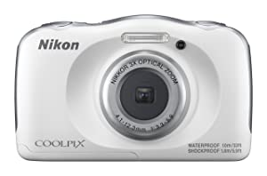 Nikon Coolpix W100 Camera  White  Point   Shoot Digital Cameras