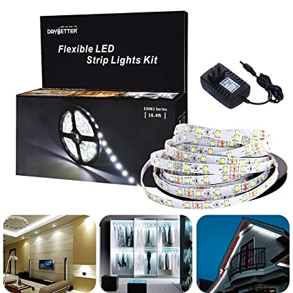 Amazon led light strip kit 300 led units smd 3528leds 164ft5m led light strip kit 300 led units smd 3528leds 164ft5m 12v flexible led aloadofball Images