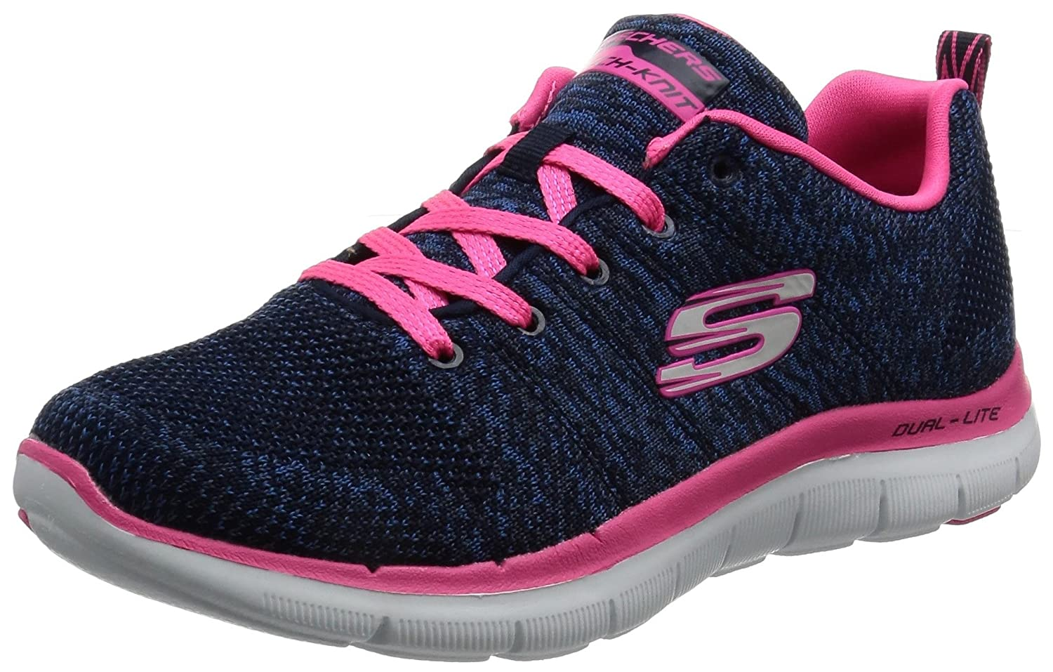 Skechers Flex Appeal 2.0 High Energy - Zapatillas Mujer 37.5 EU|Navy Pink