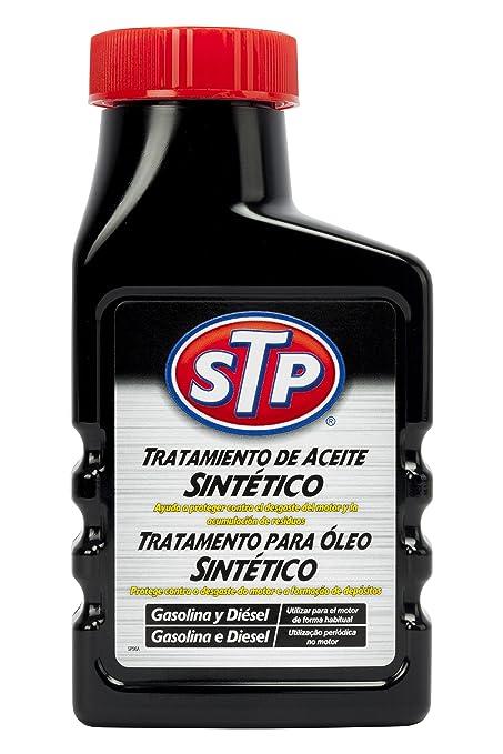 STP ST67300SP Tratamiento Sintetico Coches Gasolina Y Diesel 300 ml Mejora la viscosidad reduciendo el Consumo de Aceite, 300ml