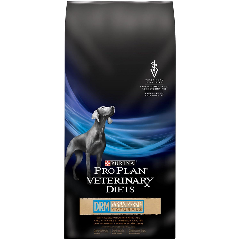 Amazon.com: Purina Pro Plan Veterinary Diets DRM Naturals Dermatologic Management Formula Dry Dog Food 25 lb: Pet Supplies