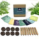 Indoor Herb Garden Starter Kit - Soil Starter Discs, Compact Herb Seed Varieties, Bamboo Labels and Detailed Instructions - D