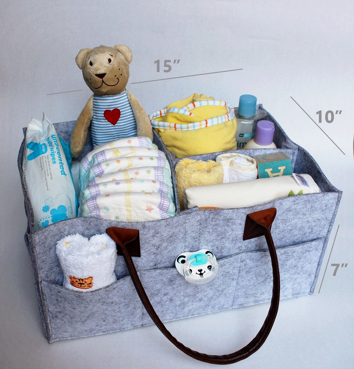 Amazon.com : Large Baby Diaper Caddy + Changing Mat Set Sale | Baby Shower Gift Set Present | Changing Pad Liner & Nursery Tote Bag Boy Girl | Large ...