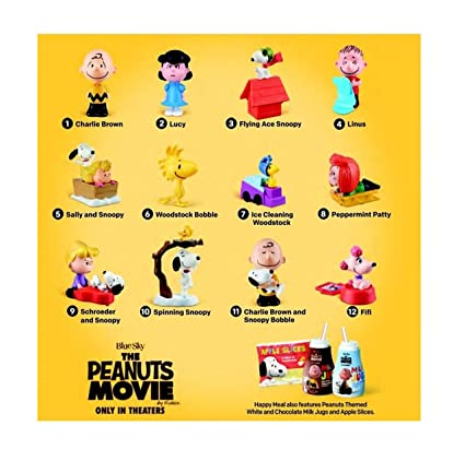 0e7950d975 Amazon.com  Mcdonalds 2015 The Peanuts Movie - Complete SET of 12  Toys    Games