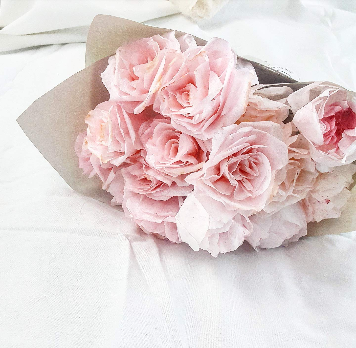 Genial Amazon.com: Large Paper Rose And Peony Bouquet, Valentines Bouquet,  Valentines Gift For Girlfriend, Pink Rose Bouquet, Paper Roses: Handmade