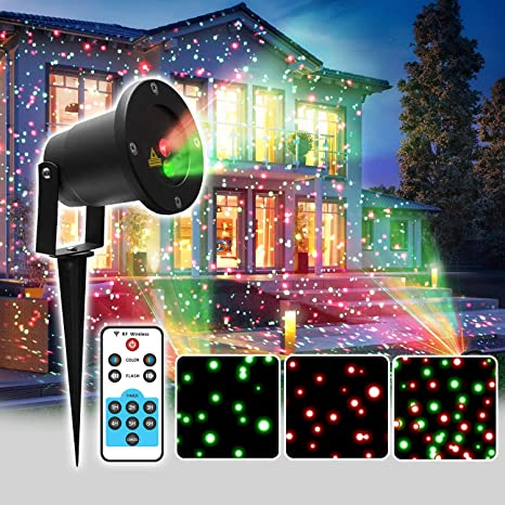 Christmas Light Projector.Laser Christmas Projector Light For Indoor And Outdoor With 3 Moving Patterns Remote Control Use For Any Occasion Especially Christmas Decorations