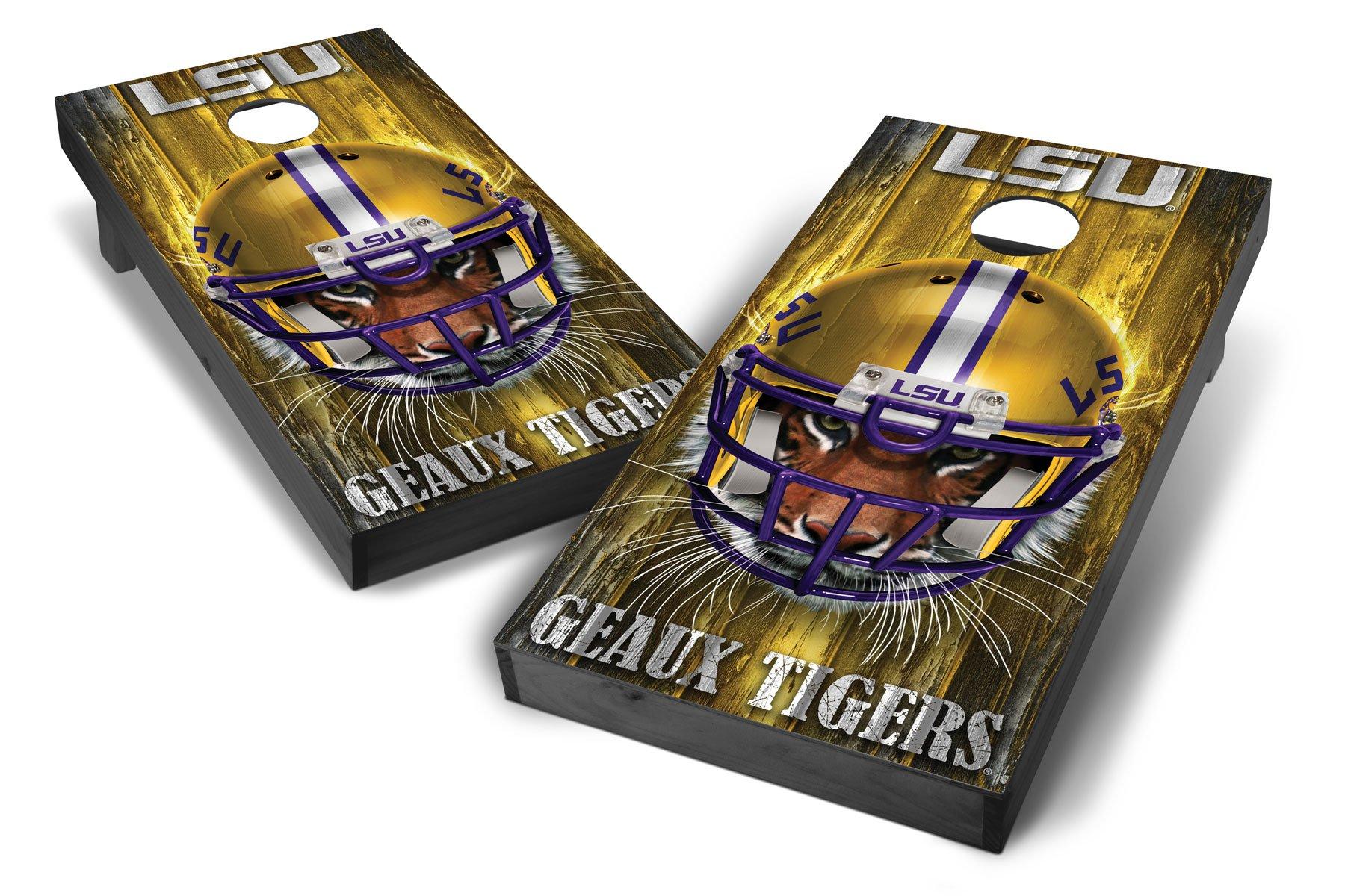 PROLINE NCAA College LSU Tigers 2'x4' Cornhole Board Set - Mascot Design, Grey