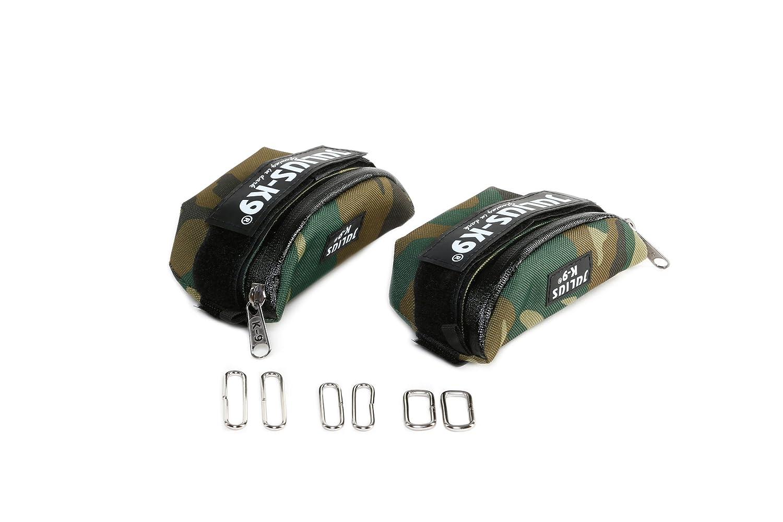 Julius-K9 IDC Universal Side Bags for Dogs Baby 2 to Mini-Mini Aquamarine Harness Size
