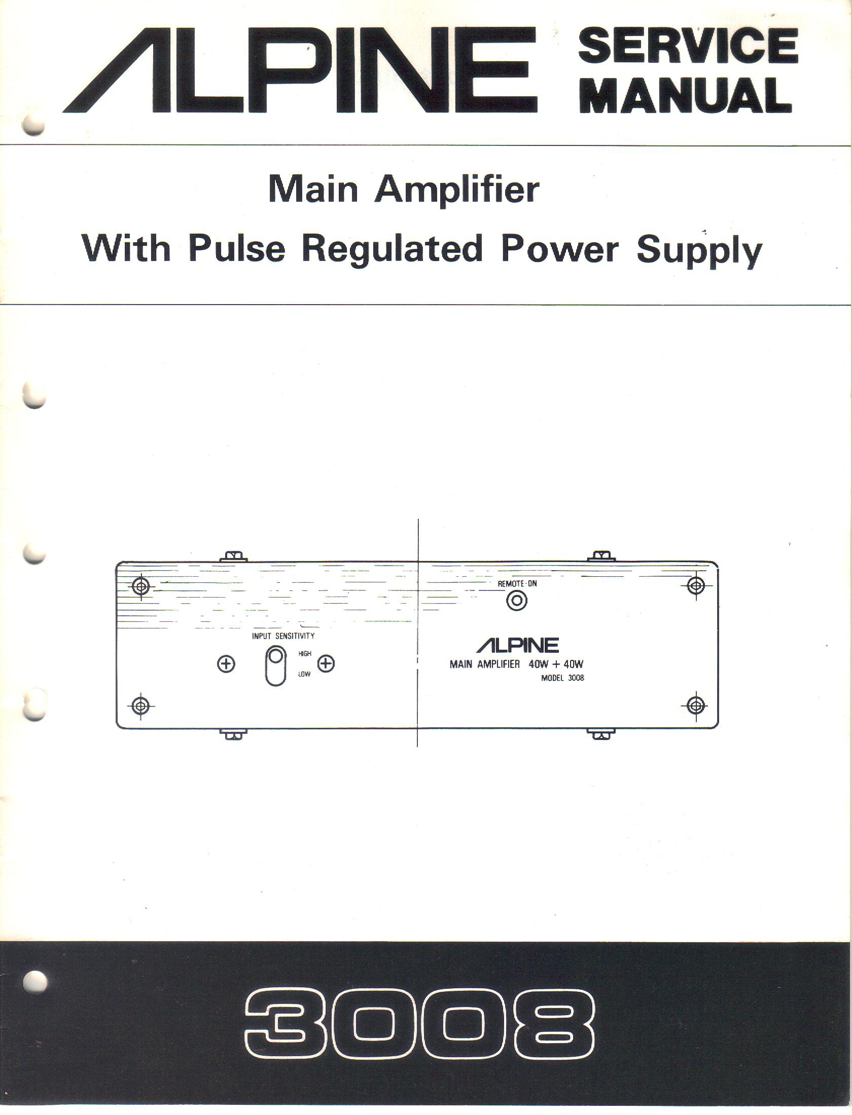 Brilliant Alpine 3008 Main Amplifier With Pulse Regulated Power Supply Wiring Cloud Hisonuggs Outletorg