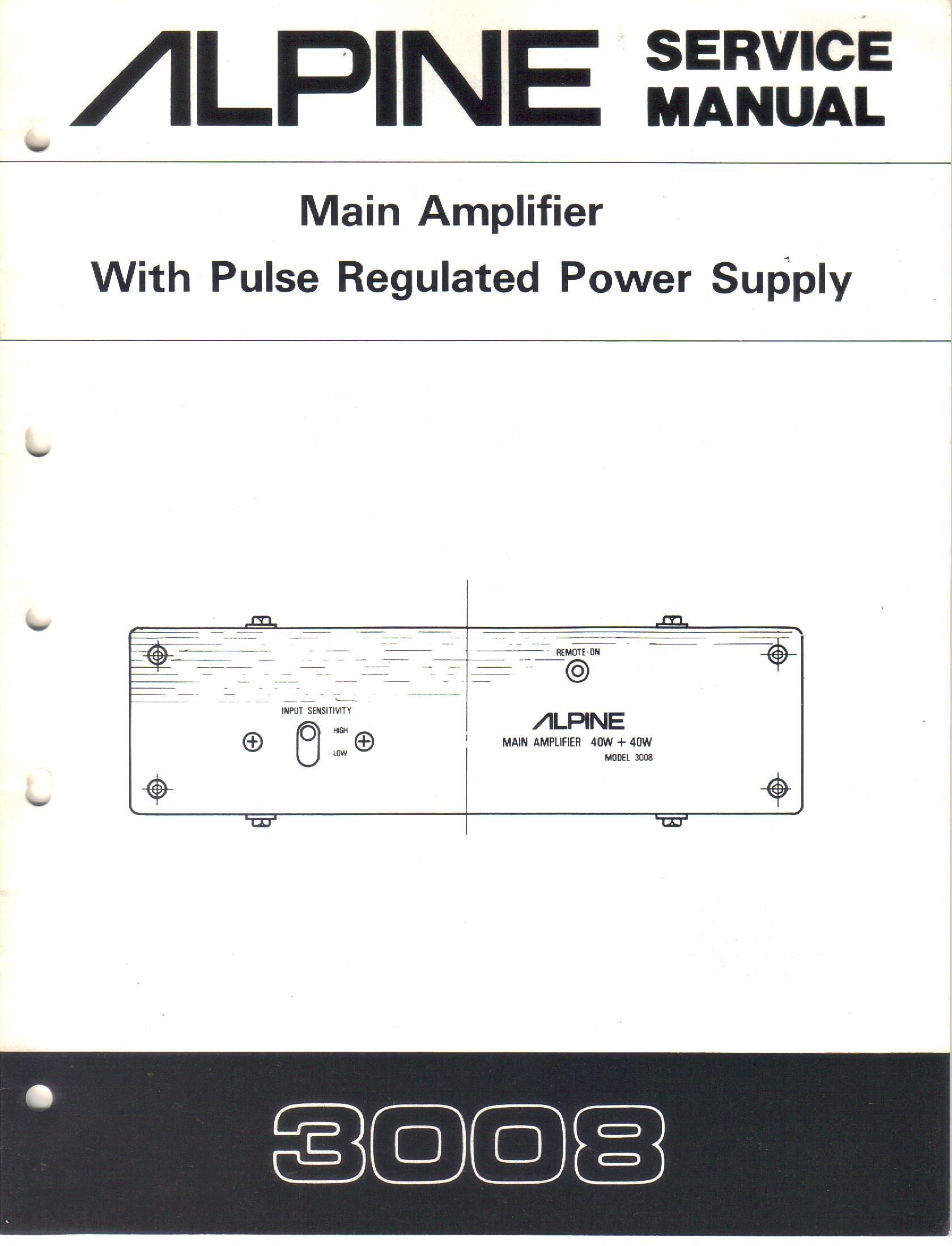 Cool Alpine 3008 Main Amplifier With Pulse Regulated Power Supply Wiring Digital Resources Xeirawoestevosnl