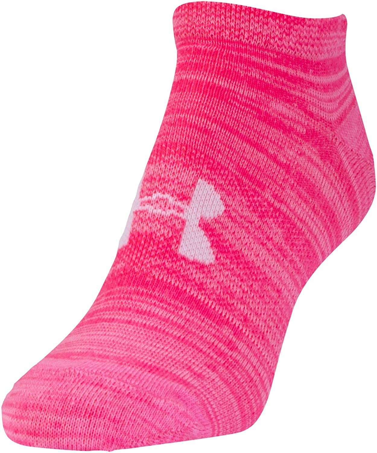 6 Pack Under Armour Womens Essential Twist No Show Socks Medium Bright Assortment