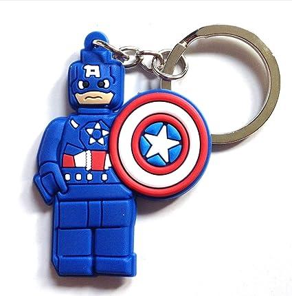 Lego Movie Capitán América Llavero de PVC de alta calidad ...