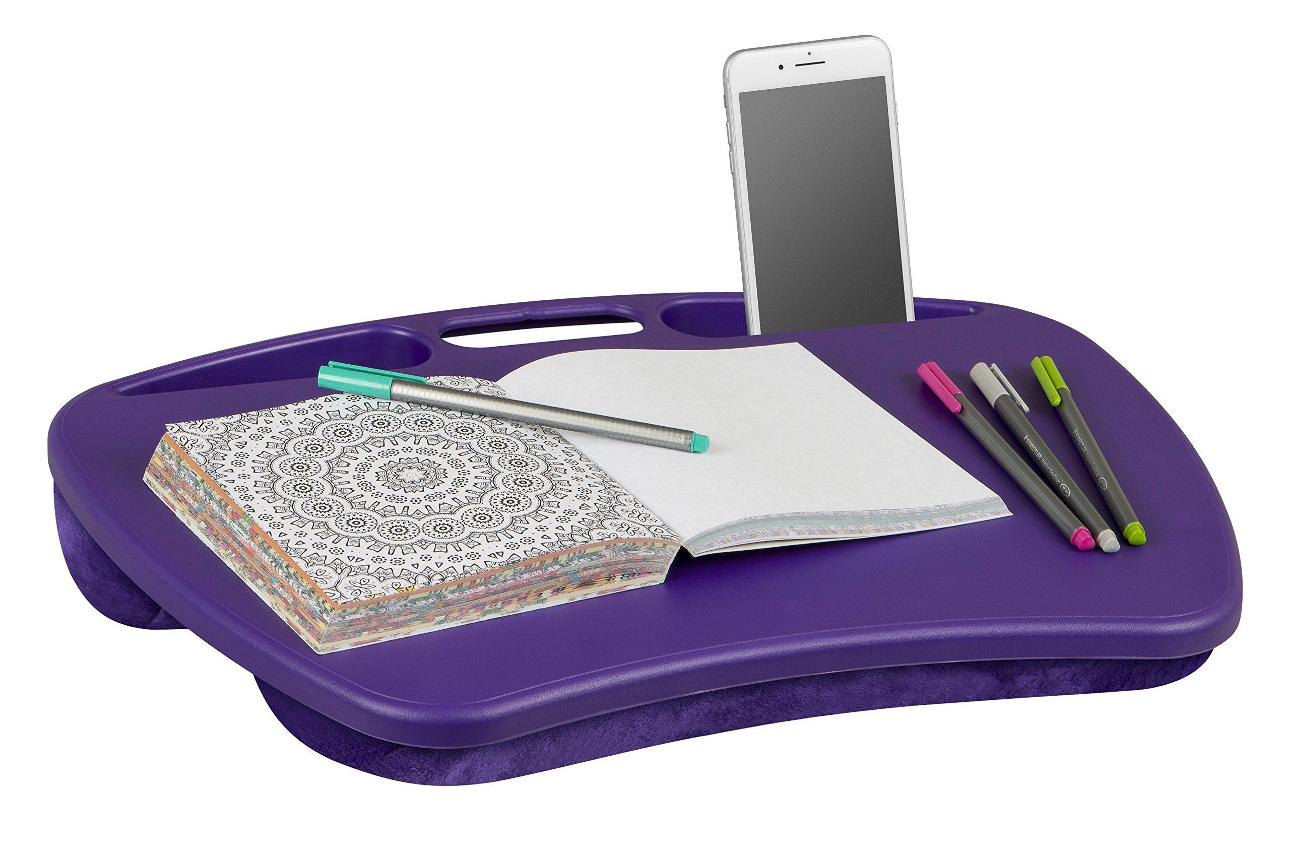 LapGear MyDesk Lap Desk - Purple - Fits up to 15.6 Inch laptops - Style No. 45342 by LapGear