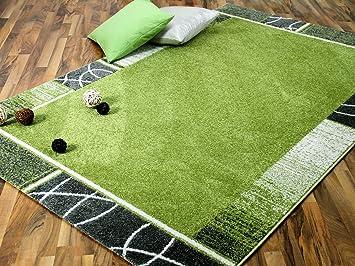 Softstar Designer Teppich Grun Trend In 4 Grossen Amazon De Kuche