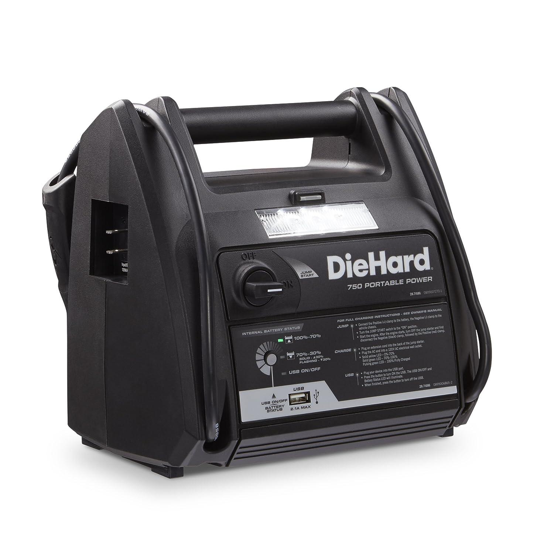 Amazon.com: DieHard 71686 Portable Power 750 Peak Amp 12V Jump Starter and  Power Source with 1-USB 1-12V Power Port: Automotive