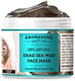 100% PURE & Natural Dead Sea Mud Mask NO INGREDIENTS ADDED, 5 Minute mask - Acne Treatment, Blackhead Remover, Anti…