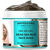 100% PURE & Natural Dead Sea Mud Mask NO INGREDIENTS ADDED, 5 Minute mask - Acne Treatment, Blackhead Remover, Anti-Aging, Po