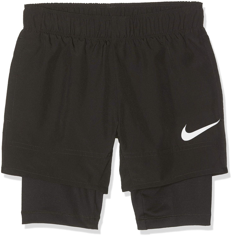 Nike Kid's B NK SHORT HYBRID W Black/White, XS