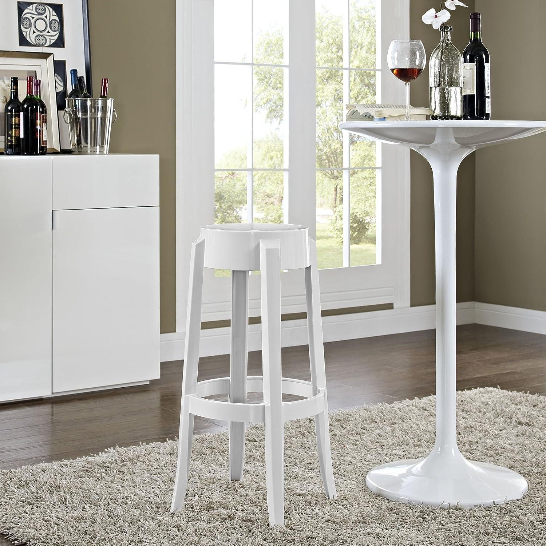 White Modway Casper Bar Stool