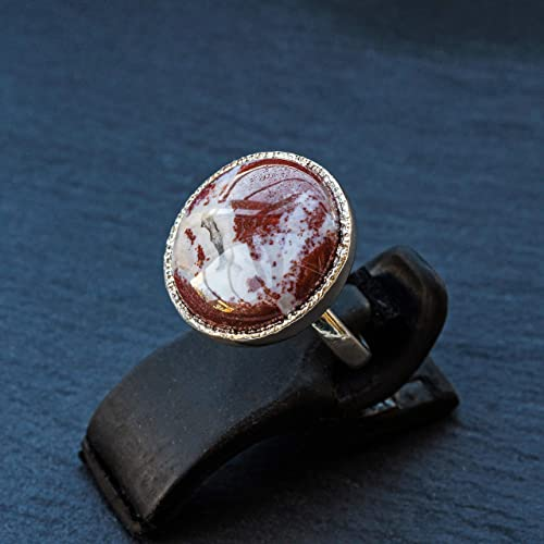Amazing Red Jasper Top Quality Gemstone Ring Cabochon Opaque Stone Ring 925-Sterling Silver Solid Silver Ring,Girls Middle Finger Ring