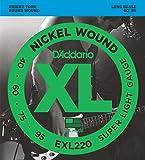 D'Addario ダダリオ ベース弦 ニッケル Long Scale .040-.095 EXL220 【国内正規品】