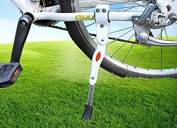 MINGZE Pata de Cabra para Bicicleta, Bicicleta de montaña de trípode de aluminio ajustable en