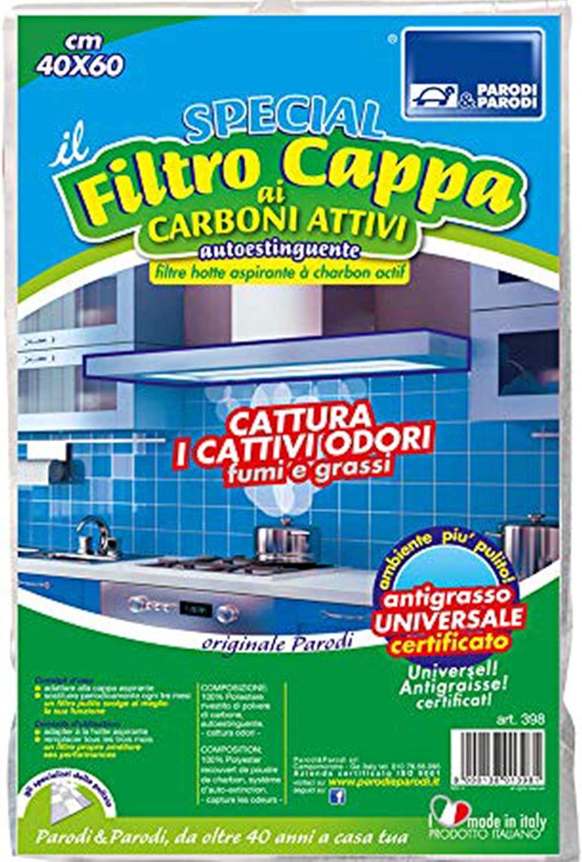 filtro de carbono activo de la campana de los filtros de carbón para la olla de campanas, usted puede cortar, FILTRAR, en la CAMPANA extractora de CARBÓN ACTIVO 40x60cm, 398 Parodi: Amazon.es: