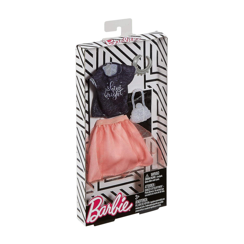Barbie Complete Looks Tulle Skirt /& Black Top Fashion Pack Mattel FKT00