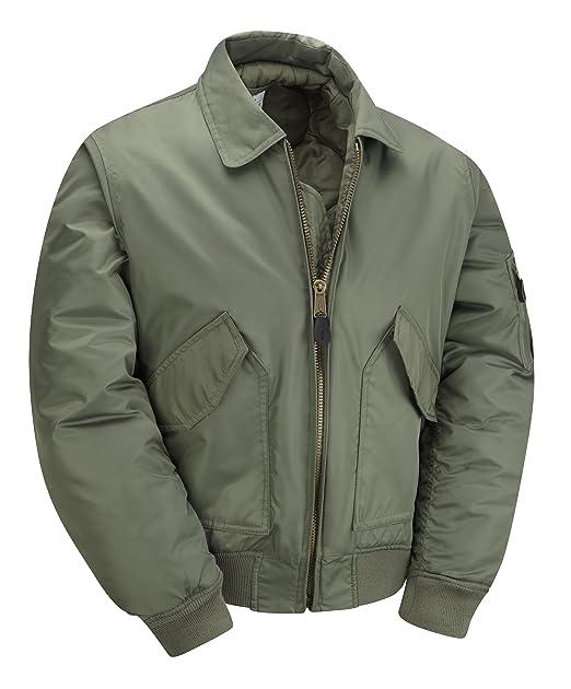 MA2- CWU Chaqueta de aviador para hombre, verde. Talla L