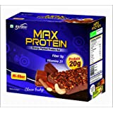RiteBite Max Protein Choco Fudge Bar - Pack of 6,(75 g)