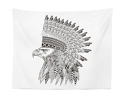 Amazon Lunarable Tattoo Tapestry Warrior Fierce Eagle Feather