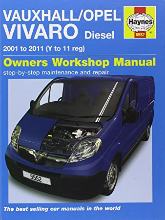 vauxhall opel vivaro diesel 2001 2011 haynes service and repair rh amazon co uk vauxhall vivaro owners manual 2006 vauxhall movano user manual