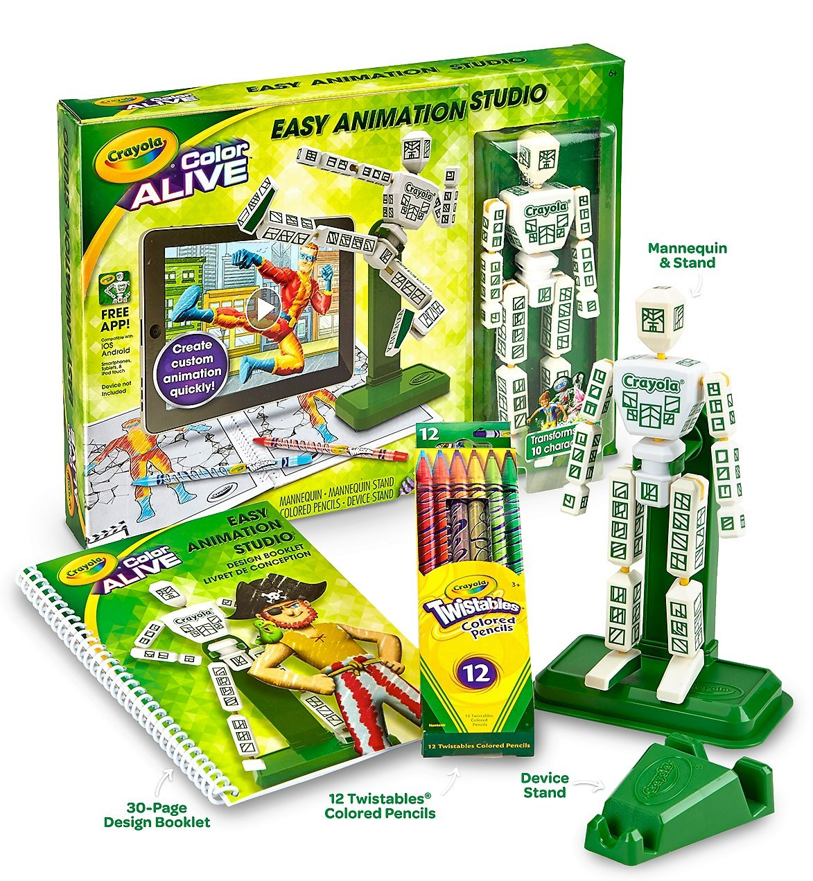 Amazon.com : Crayola Color Alive Easy Animation Studio Model: 95 ...