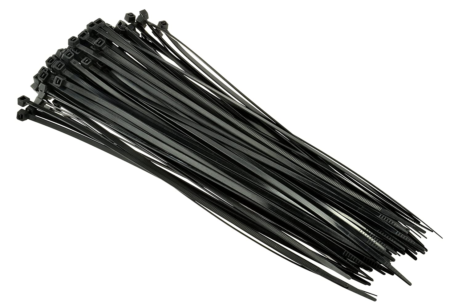 """SE CT1676B Heavy-Duty 16"""" Black Cable Ties with 110-lb. Tensile Strength, 100-Pack"""