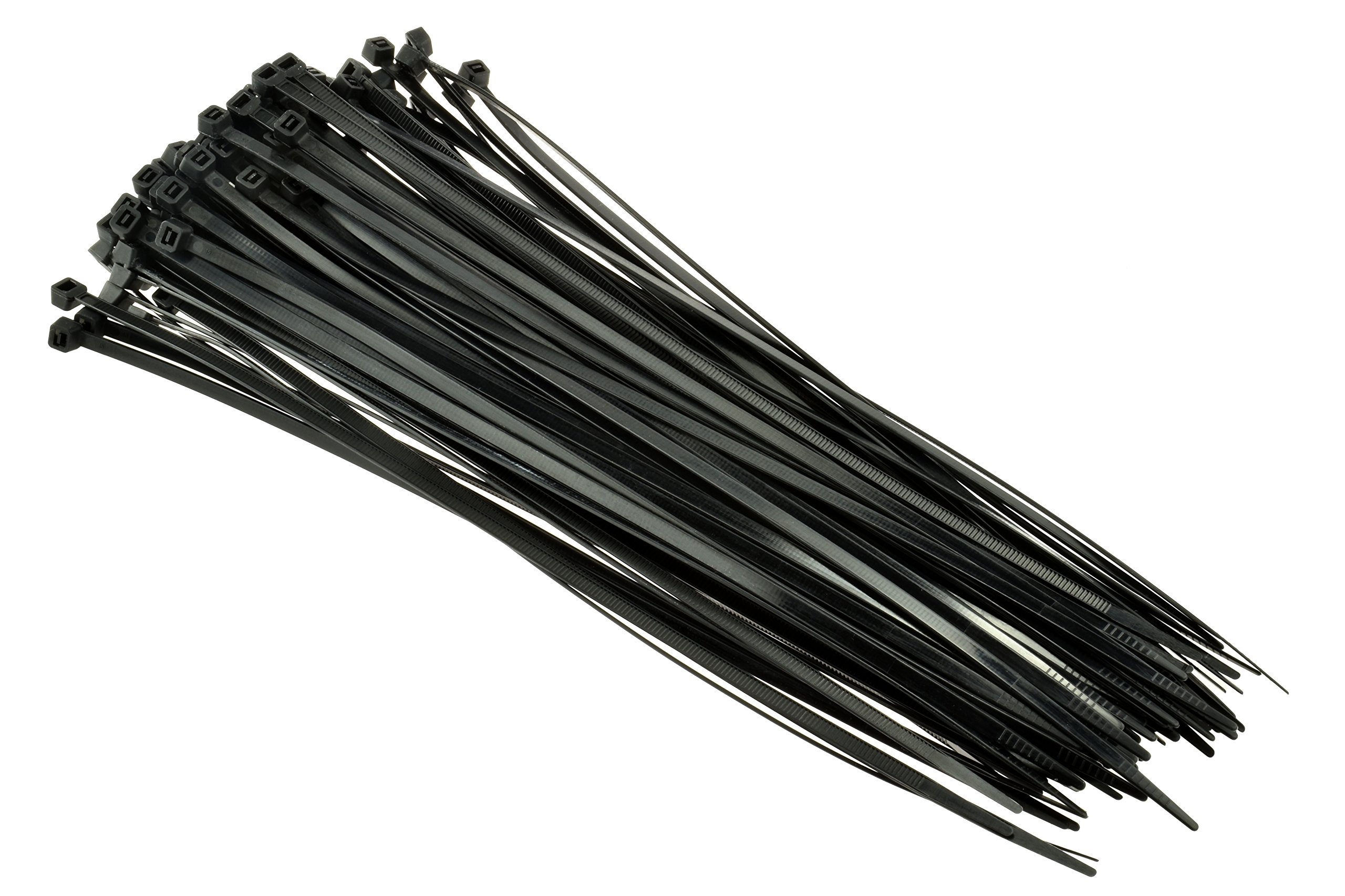SE CT1676B Heavy-Duty 16'' Black Cable Ties with 110-lb. Tensile Strength (100 Count)