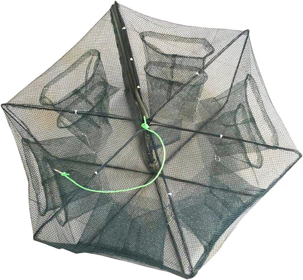Auto Foldable Fishing Bait Trap Crab Net Shrimp Cast Tackle Cast Cage Dip C1L2