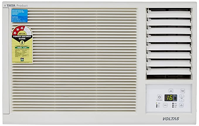 Voltas 1 Ton 3 Star Window AC  123 Lyi/123 LZF, White  Air Conditioners