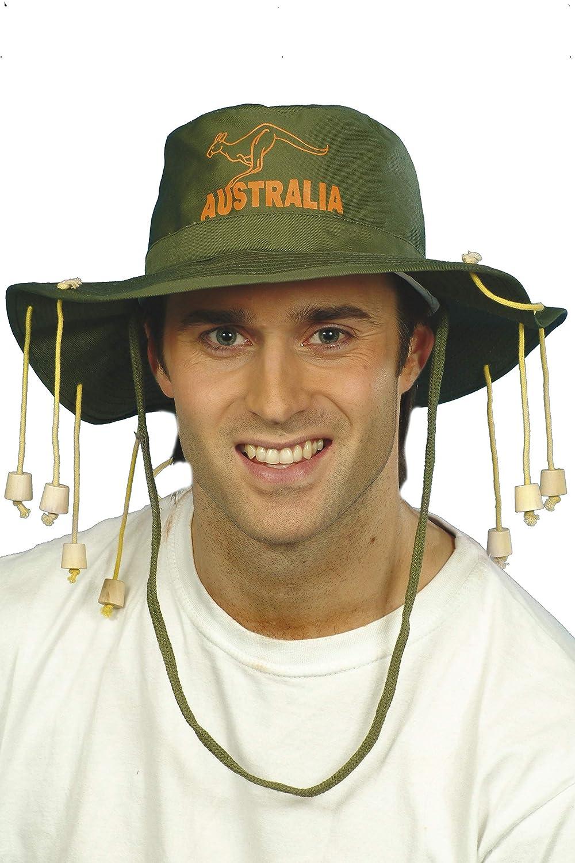 Verde SmiffyS 97305 Sombrero Australiano Con Corchos Tama/ño /Único