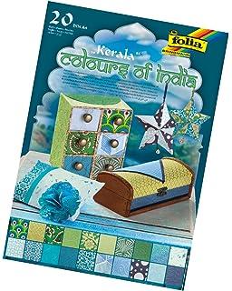 "DIN A4 /""colours of india/"" 20 Blatt sortiert Folia 550401 Kreativpapier Kerala"
