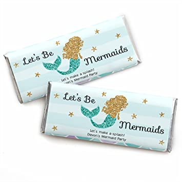 Personalized Let S Be Mermaids Custom Baby Shower Or Birthday Party Favors Candy Bar