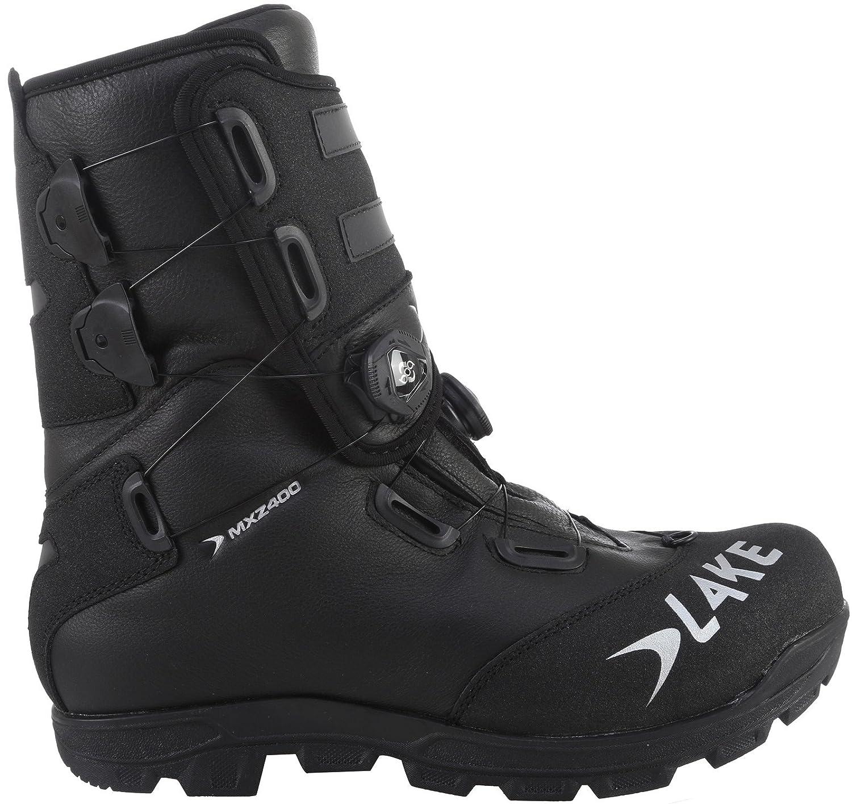 Lake MXZ400 Winter Cycling Boot - Men's B01M5JEFHM 44|Black/Silver