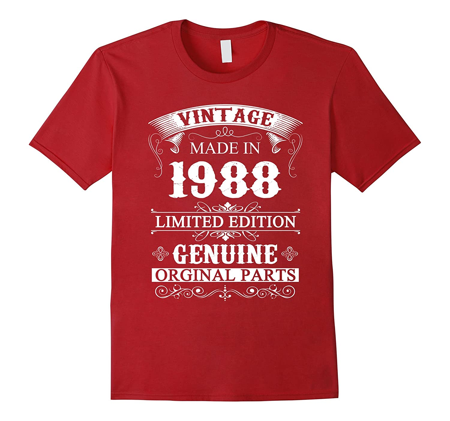 Made In 1988 - 29 Years Old Shirt - 29th Birthday Gift Ideas-TH