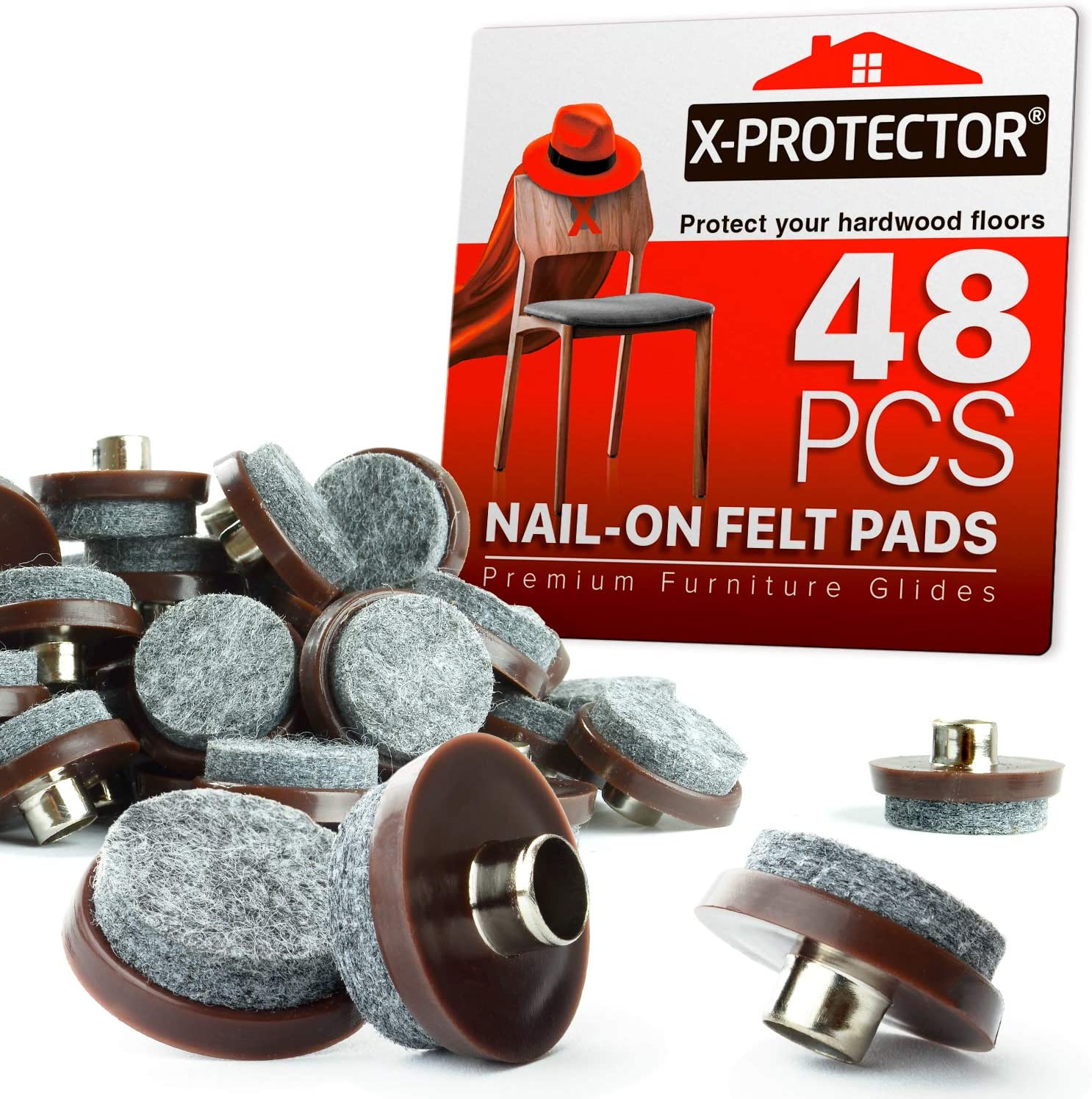 Nail On Felt Pads X-Protector - 48 Felt Furniture Pads – 1