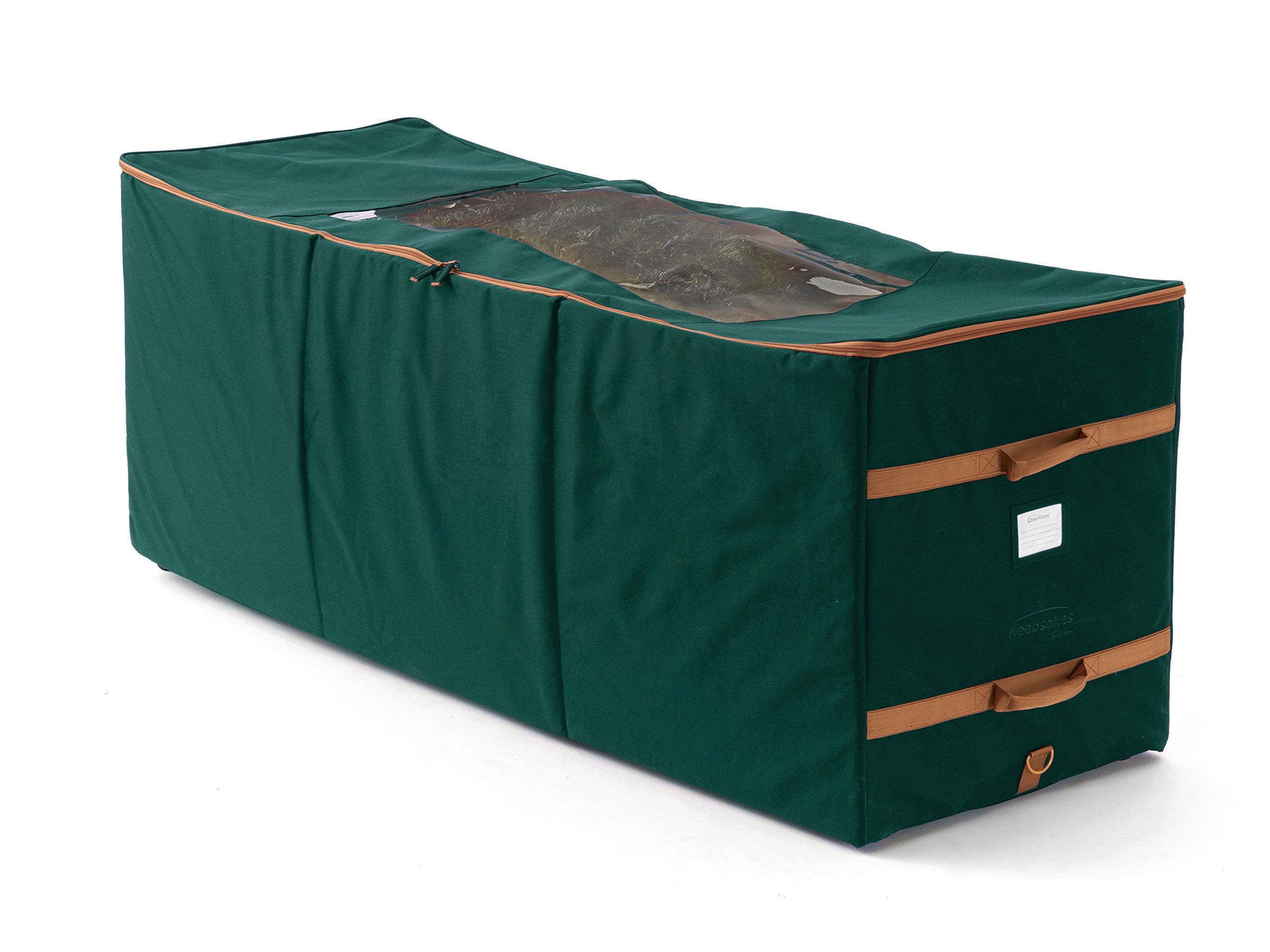 CoverMates – Holiday Rolling Tree Storage Bag – Fits up to 15 Foot Tree – 3 Year Warranty- Green