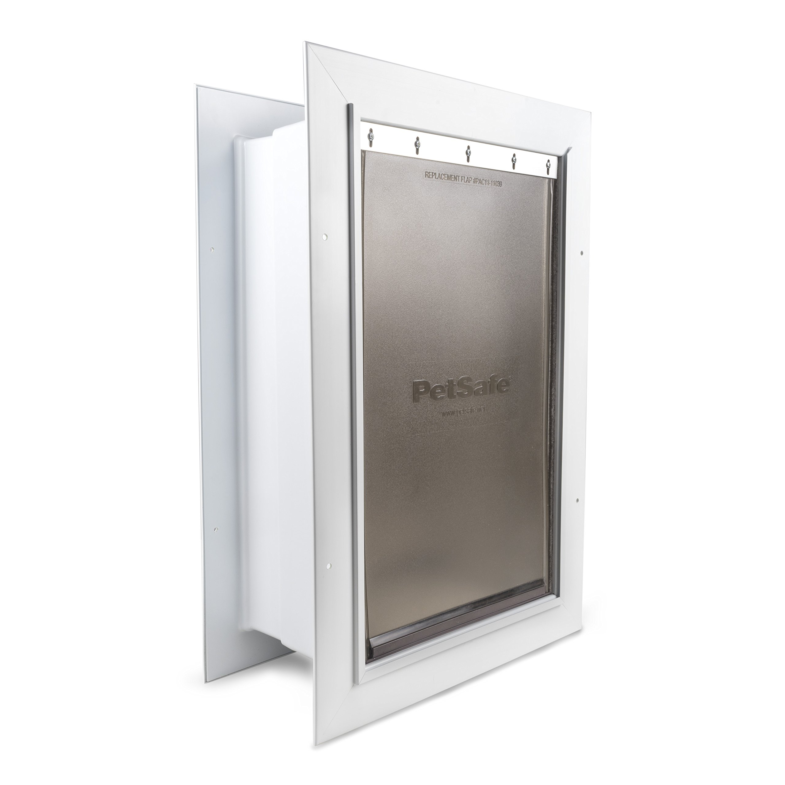 PetSafe Wall Entry Pet Door with Telescoping Tunnel, Medium, for Pets Up to 40 Lb, White, Made in The USA