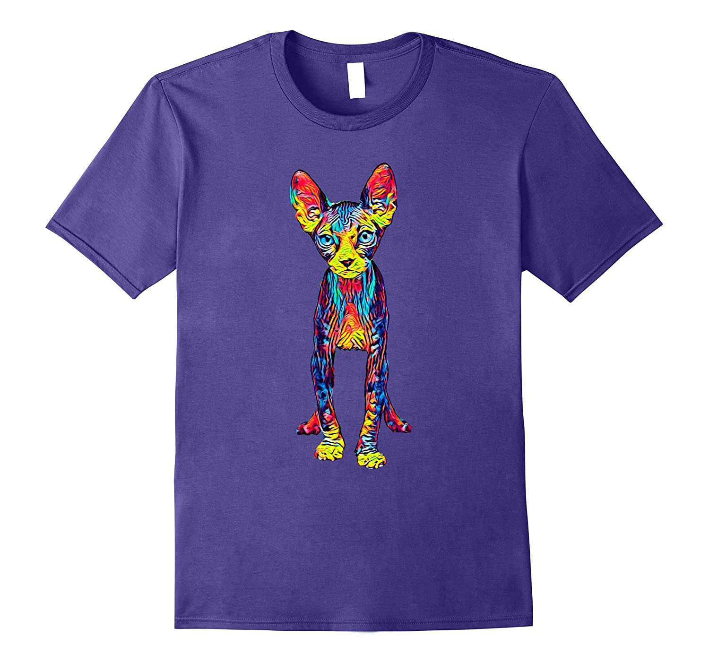 Cool Sphynx Cat T Shirt Full Body-Awarplus
