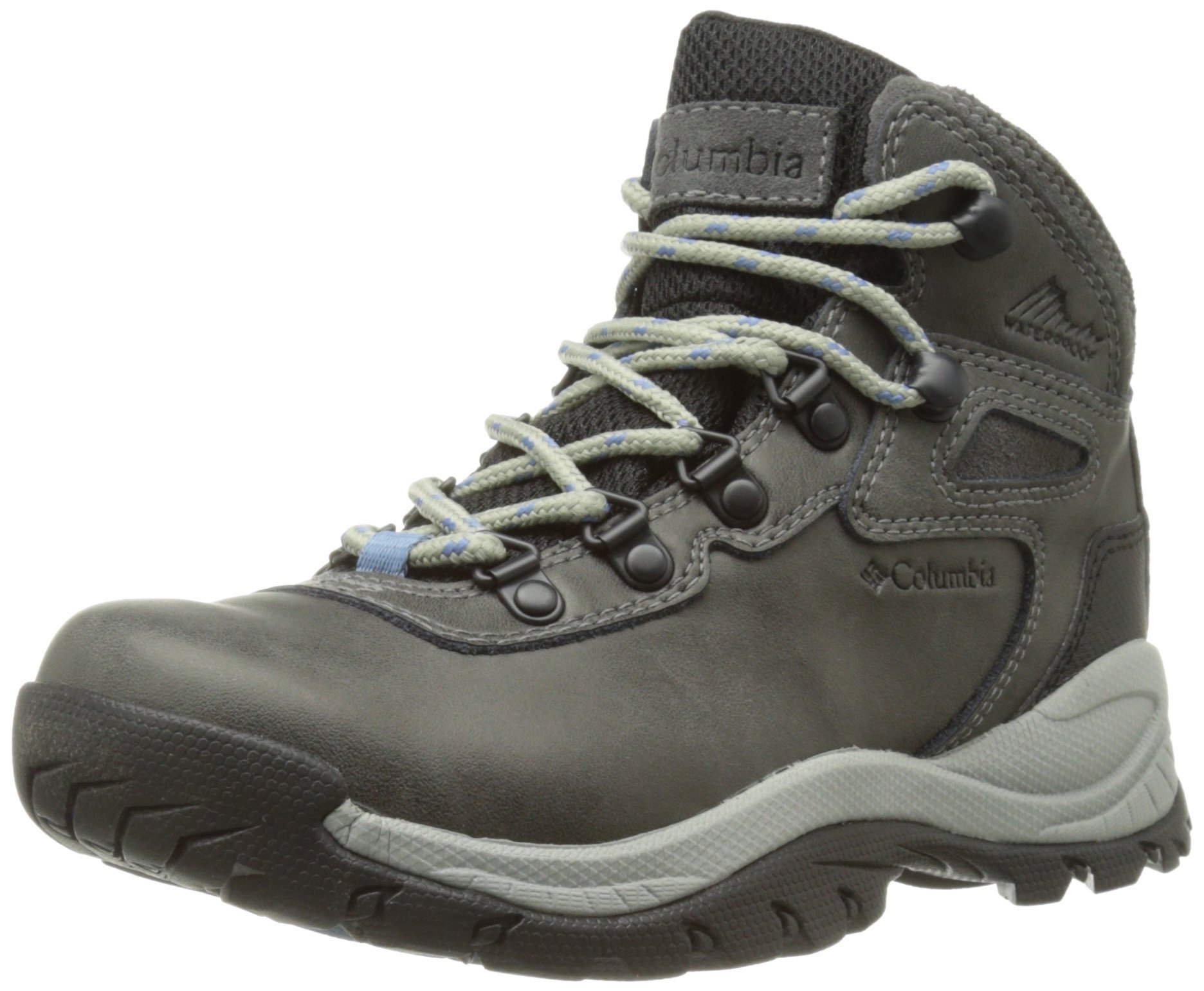 Columbia Women's Newton Ridge Plus Hiking Boot, Quarry/Cool Wave, 8.5 M US