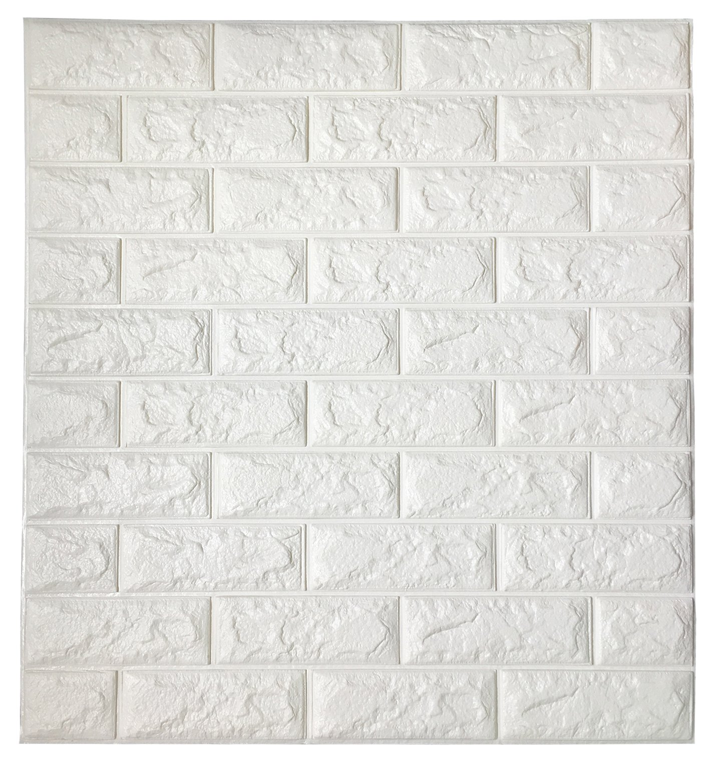 Art3d Peel and Stick 3D Wall Panels for TV Walls/Sofa Background Wall Decor, White Brick Wallpaper